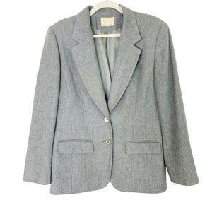 Vintage Pendleton Wool Blazer Jacket Size 12